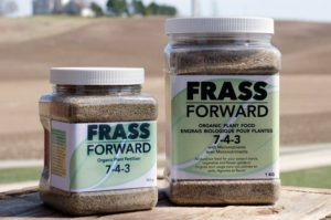 Frass Forward: 100% Organic cricket frass (insect manure) and organic waste; a product of cricket farming.